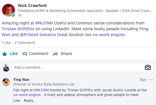 Screenshots From LinkedIn