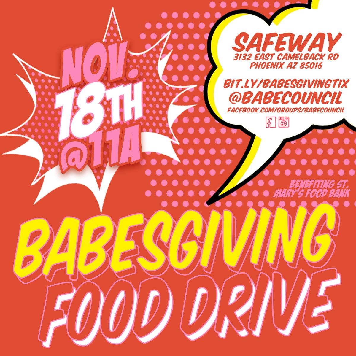 Babesgiving Food Drive Nov 18th 2017