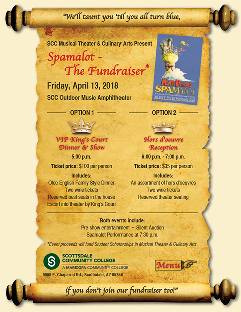 Spamalot - The Fundraiser Flyer