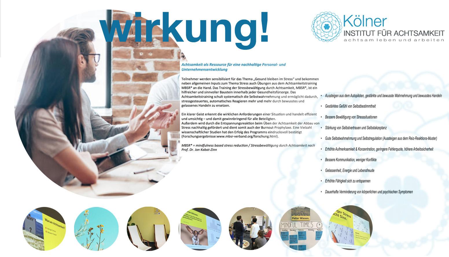 MINDFULNESS BOTSCHAFTER -WIRKUNG