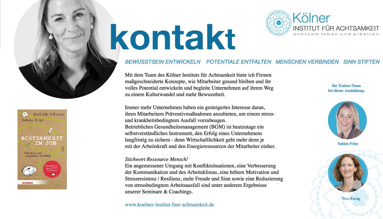 MINDFULNESS BOTSCHAFTER -KONTAKT