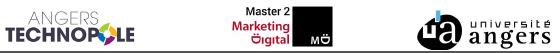 Logos Angers Technopole, Master 2 MD et Université d'Angers