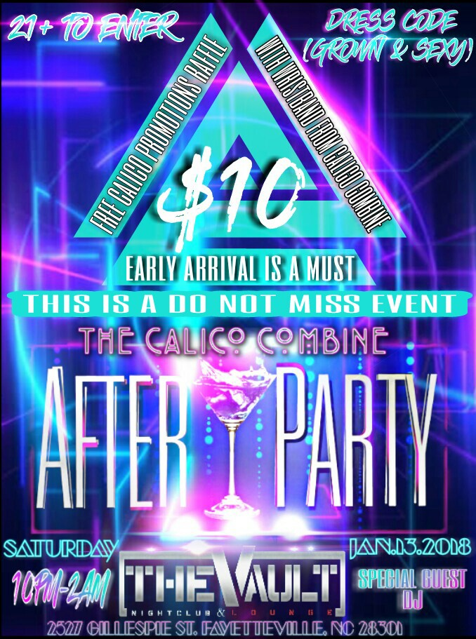 Calico Combine After Party Flyer