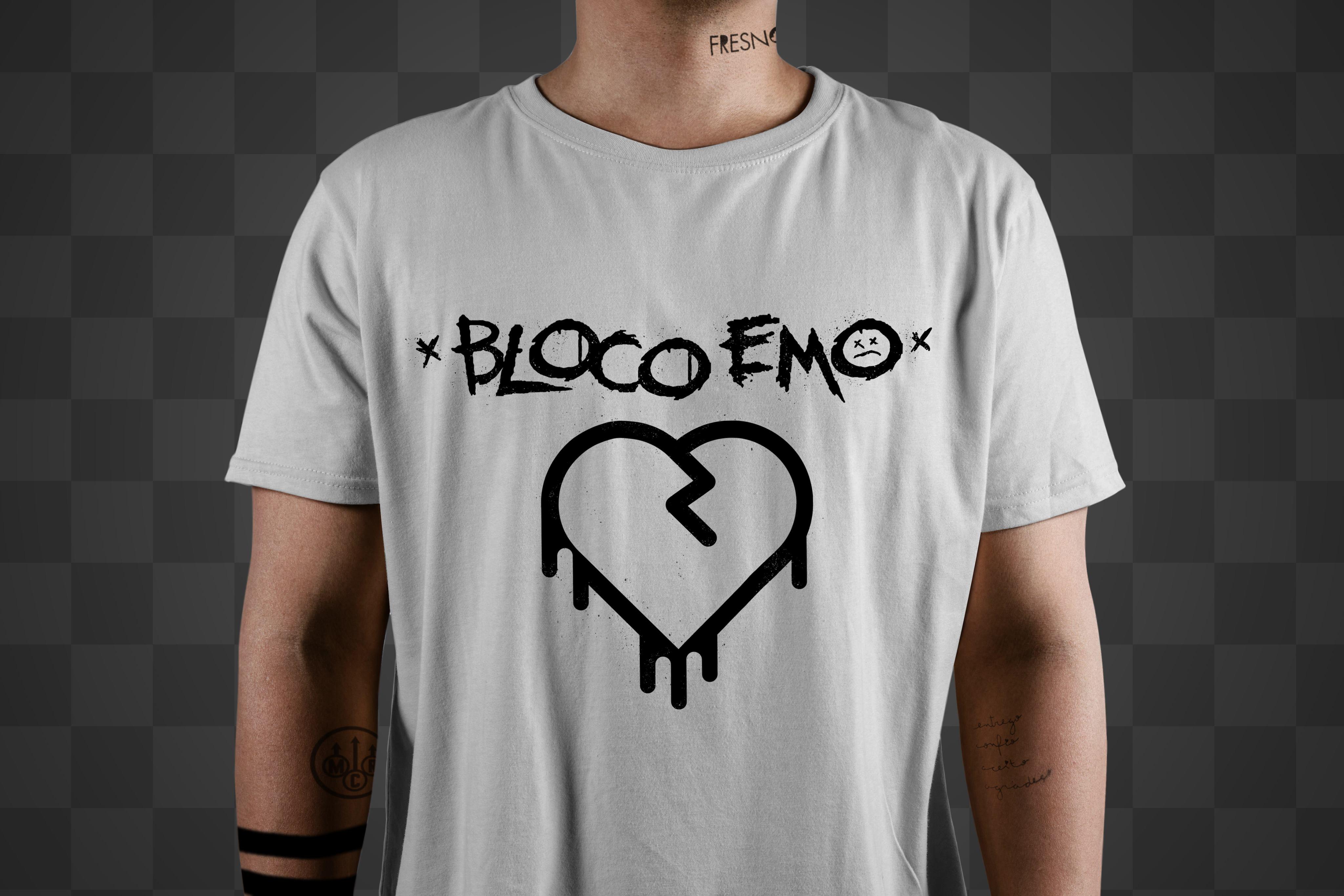 Camiseta Bloco Emo Branca