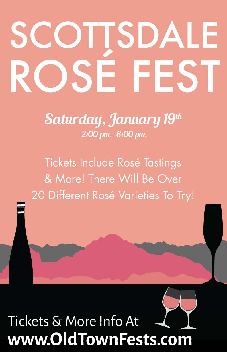 Scottsdale Rosé Fest Tasting Party - Tickets include Rosé Tastings & More!  There will be over 20 different Rosé varieties to try!