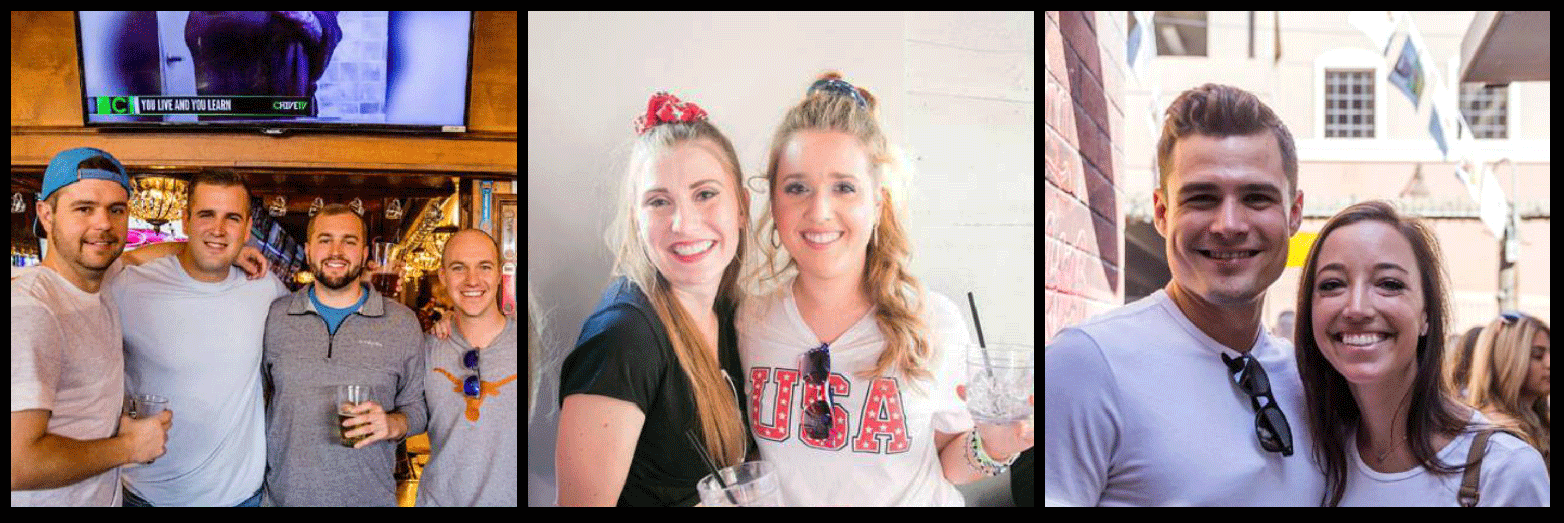 Red, White and Booze Bar Crawl Picture Collage