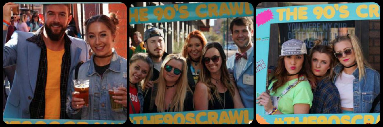 Scottsdale 90s Bar Crawl Pic Collage