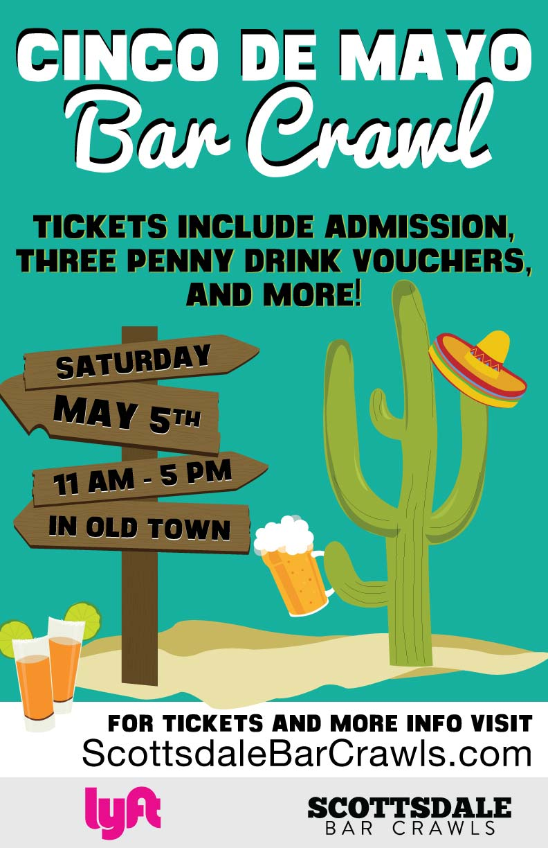 Cinco de Mayo Bar Crawl Party - Tickets include admission, three drink vouchers and more!