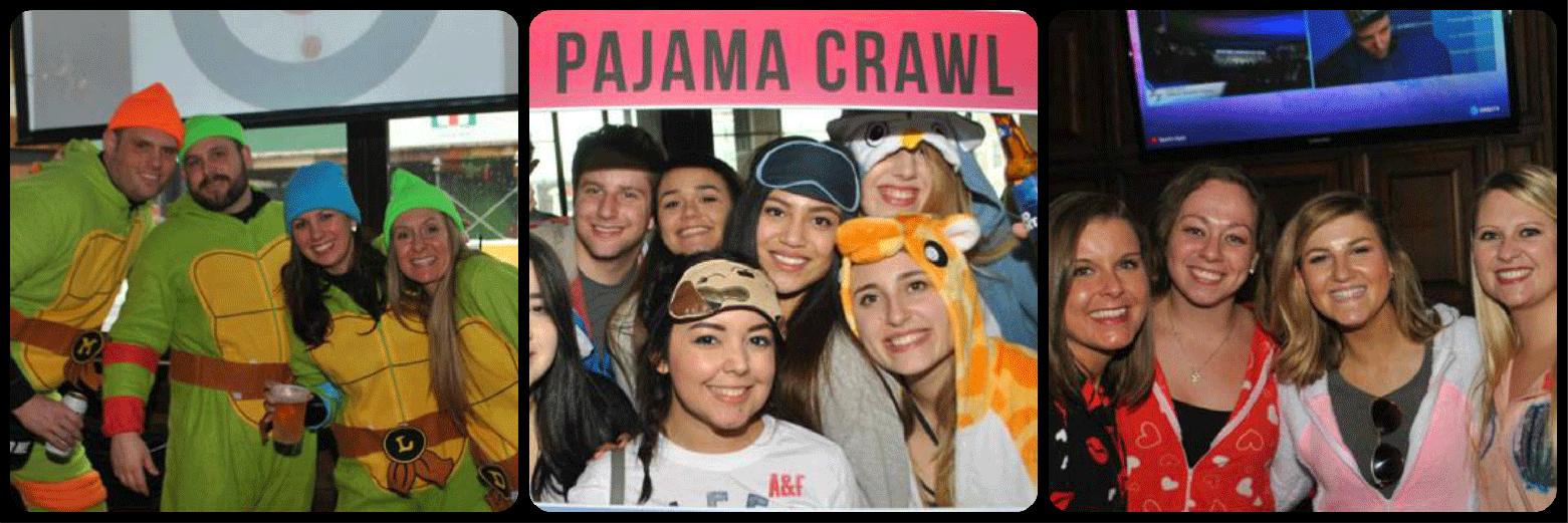 Scottsdale Pajama Crawl Picture Collage