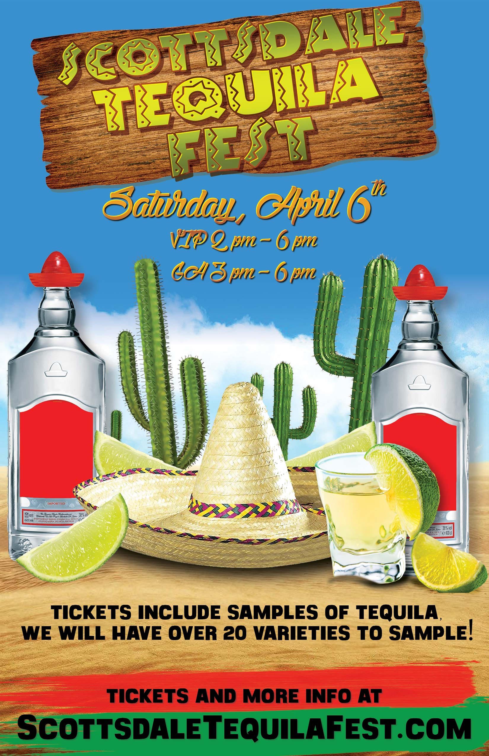 Scottsdale Tequila Fest Tasting Party - Taste a variety of different types of tequila! We will have over 20 varieties to choose from!