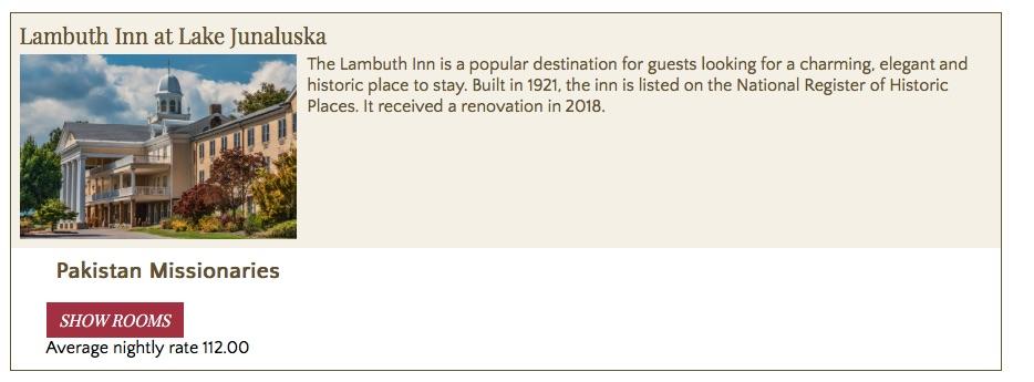 Lambeth Inn Example