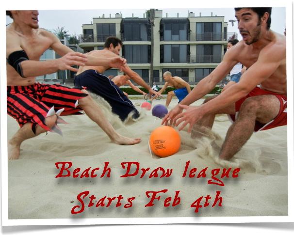 Beach Draw league starts Feb 4th