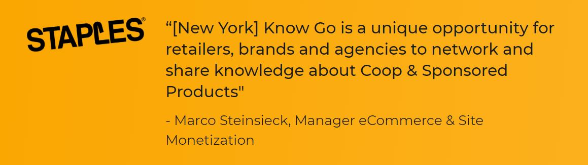 [New York] Know Go is a unique opportunity for retailers, brands and agencies to network and share knowledge about Coop & Sponsored Products