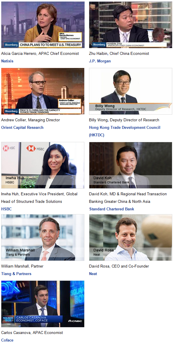 Meet our best-in-class speakers at Coface 2018 Country Risk Conference in Hong Kong