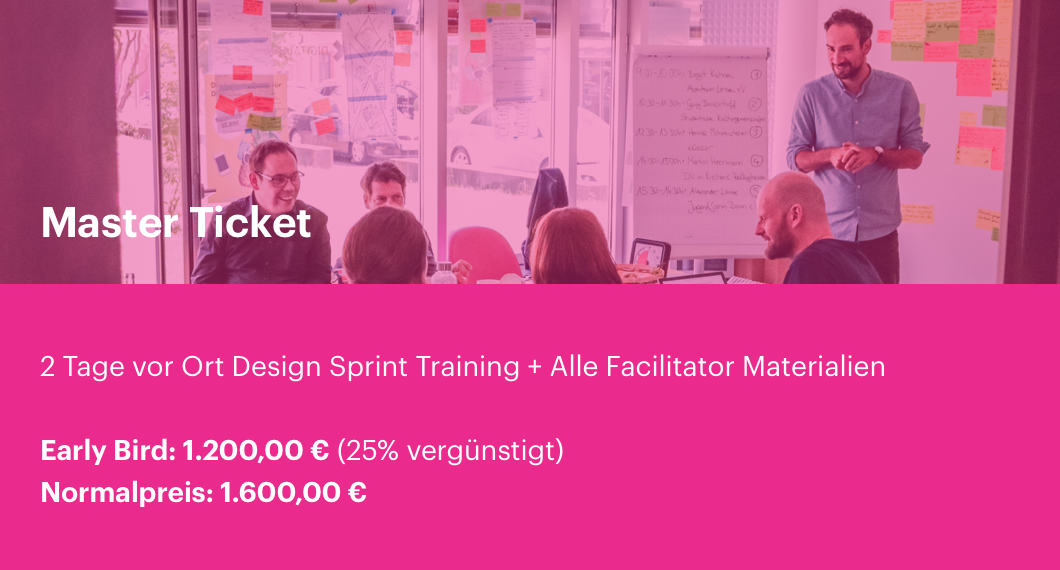 Design Sprint Training Frankfurt Master Ticket