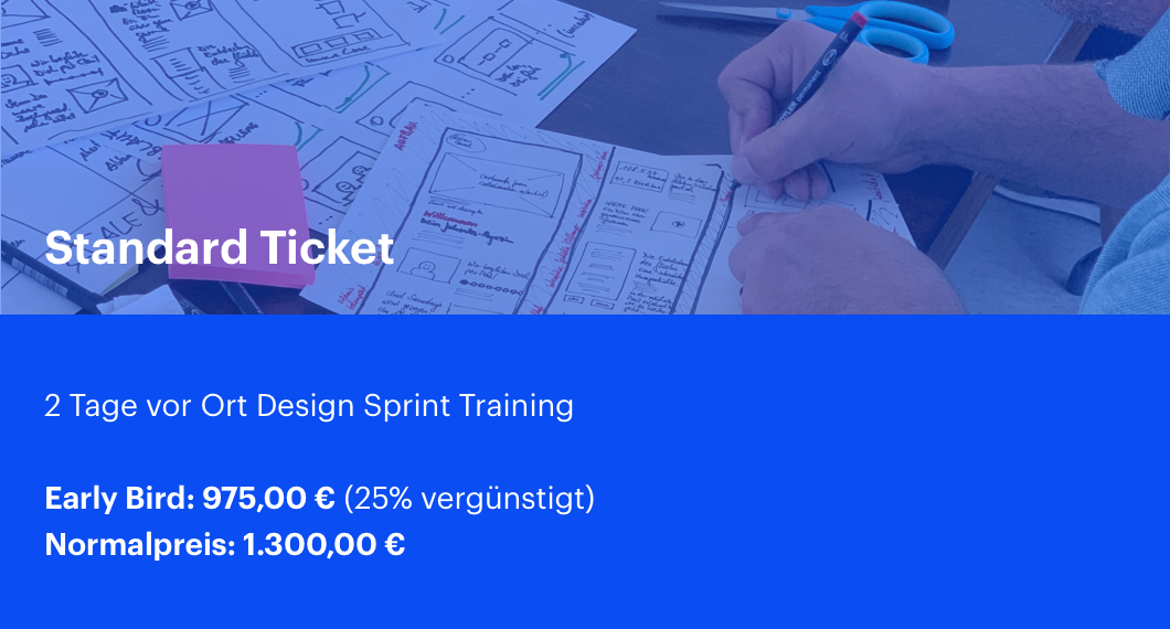 Design Sprint Training Frankfurt Standard Ticket