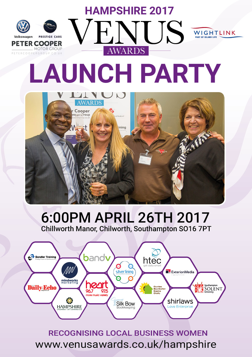 Hampshire 2017 Venus Awards Launch Poster