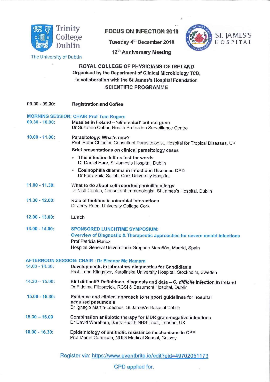 Focus on Infection 2018 - Scientific Programme