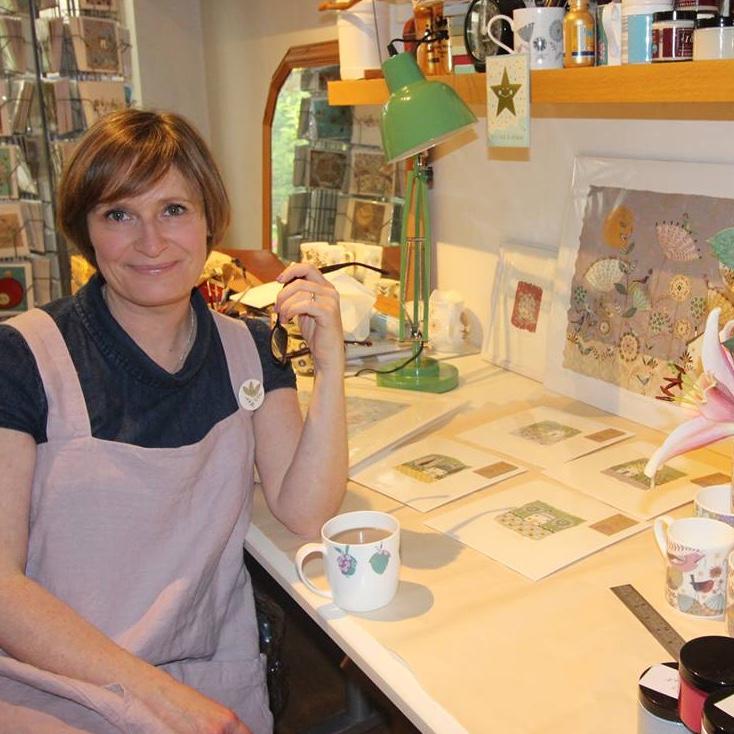 Helen Rhodes in her studio