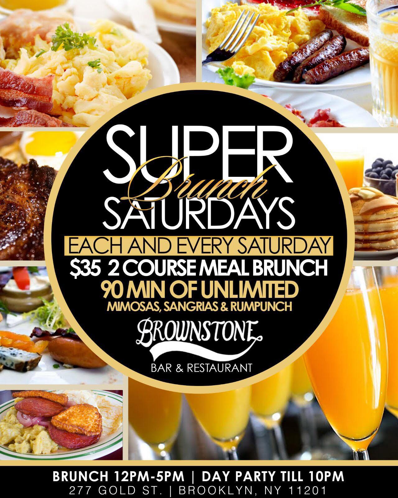 Super Brunch Saturdays Flyer