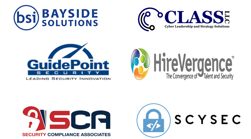 Tampa Bay ISSA Gold Sponsors include Bayside Solutions, CLASS LLC, Hirevergence, SCA, ScySec