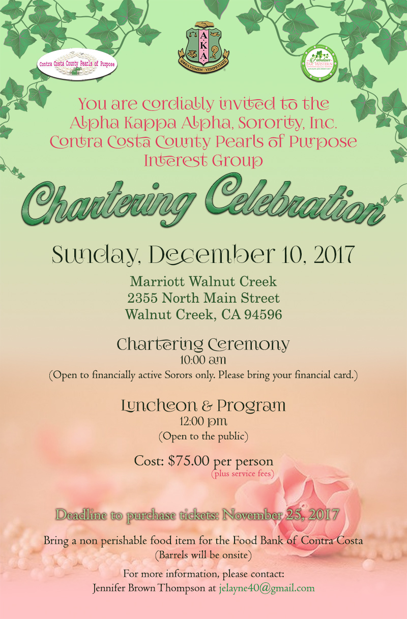 AKA Contra Costa County Pearls of Purpose Chartering Luncheon