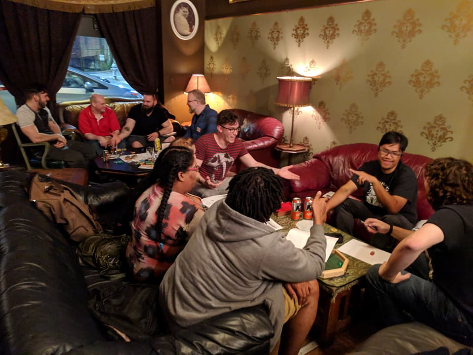 Group of D&D Players at Joystick Gamebar