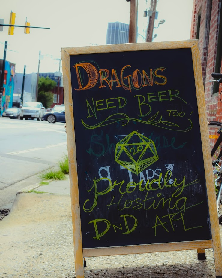 Sign for the first D&D Bar Crawl on Edgewood Avenue