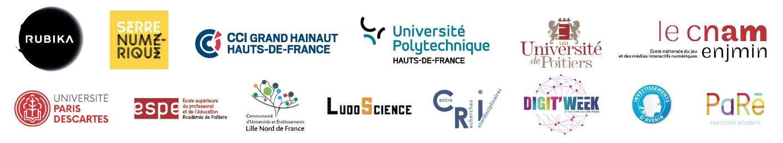 logos partenaires game jam Valenciennes Angoulême