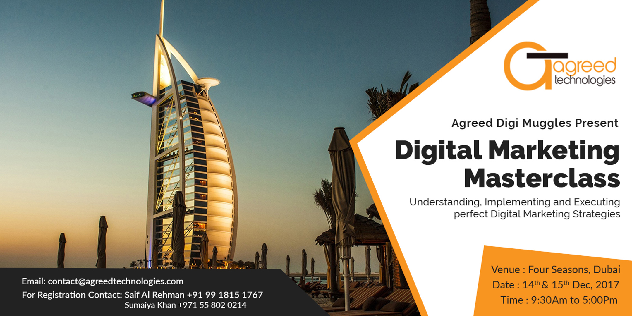 Digital Marketing Masterclass (14th & 15th Dec), Dubai