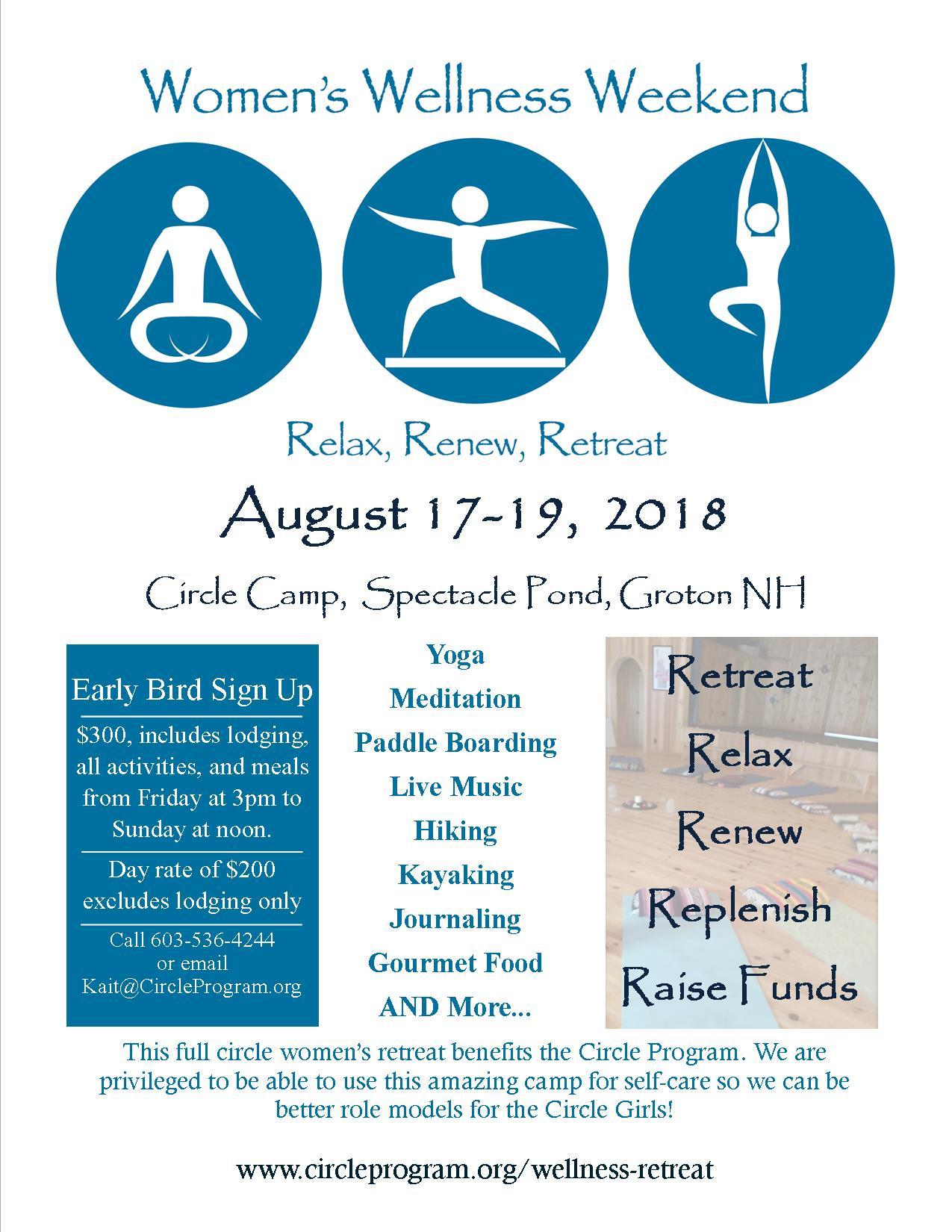 2018 Women's Wellness Retreat Poster