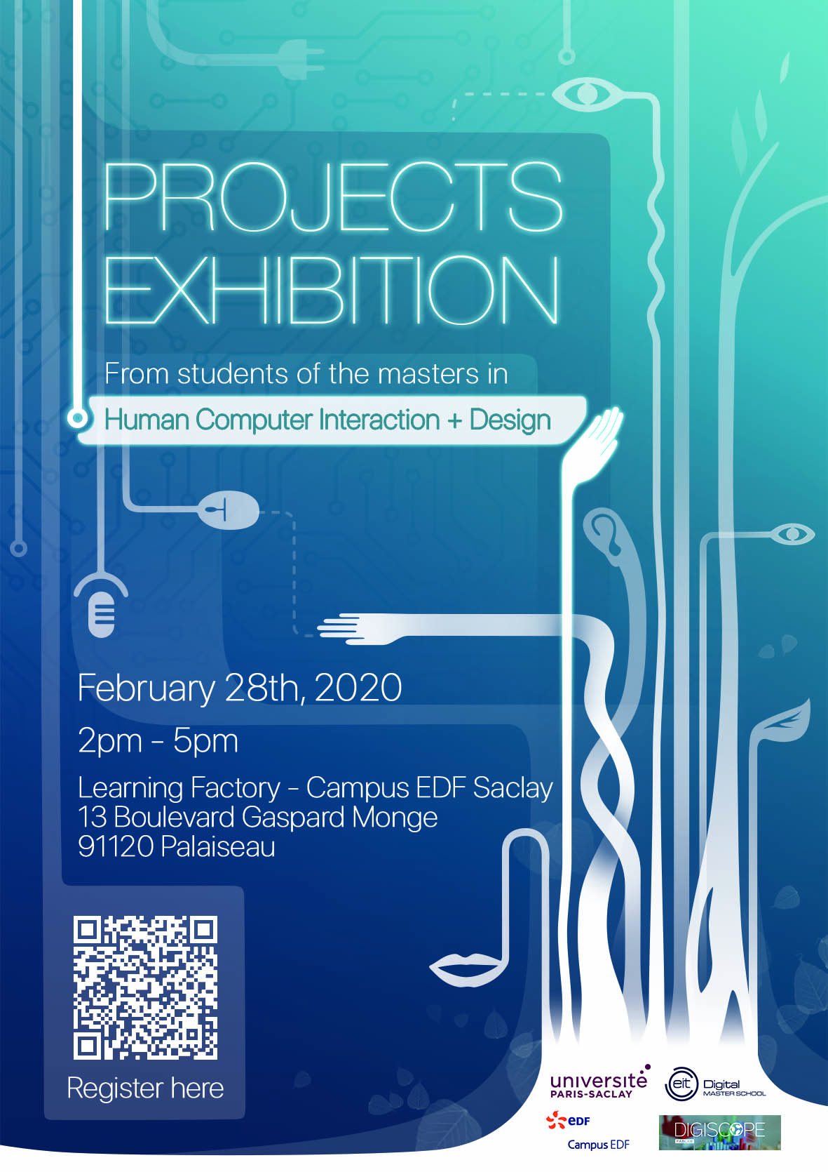 Poster,Human Computer Interaction, EDF campus, february 28TH
