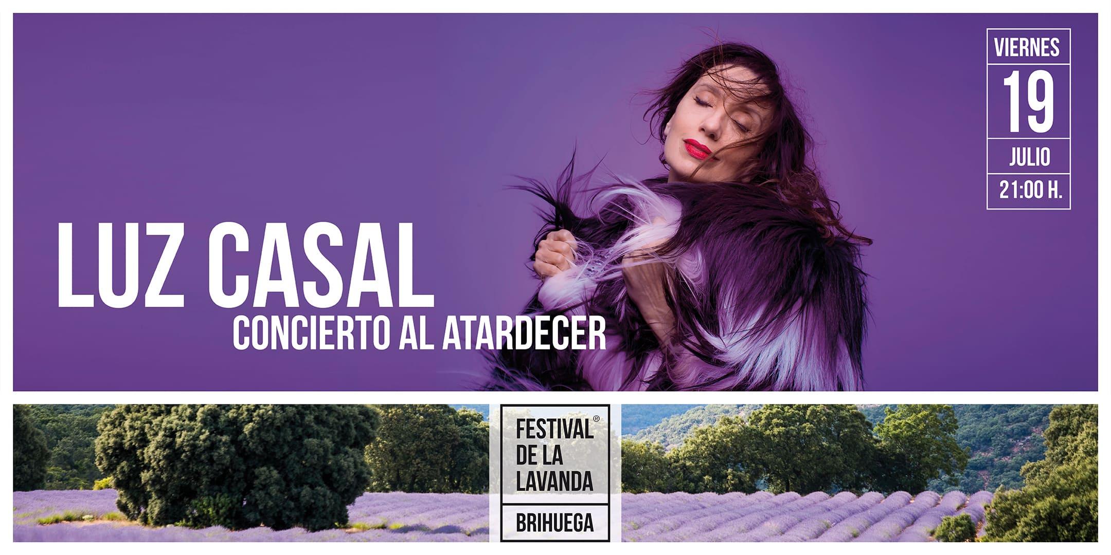 Cartel Festival de la Lavanda 2019 - Luz Casal