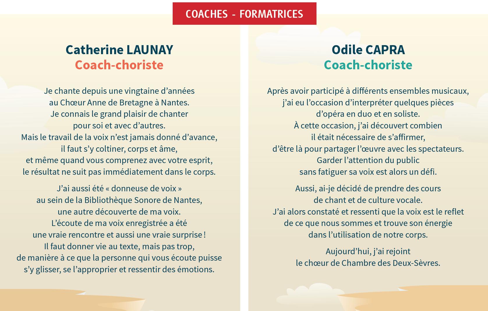 Catherine Launay et Odile Capra