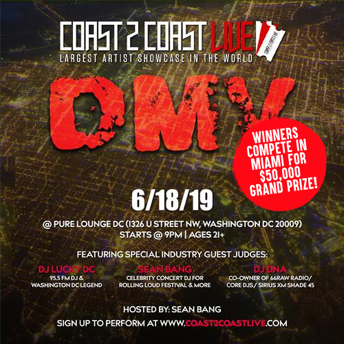 Coast 2 Coast Live Artist Showcase Dmv 50k Grand Prize Tickets