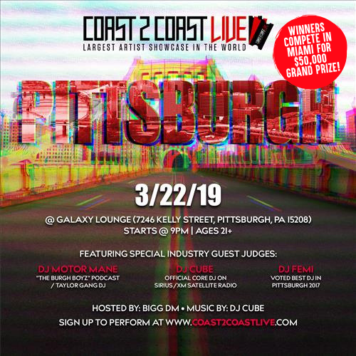 Coast 2 Coast Live Artist Showcase Pittsburgh Pa 50k Grand Prize