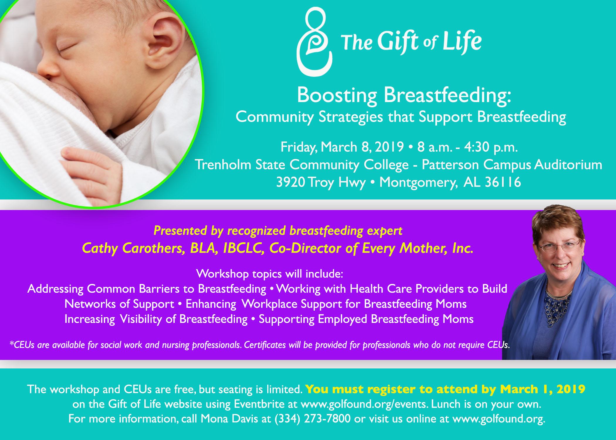2019 Breastfeeding Workshop Flyer
