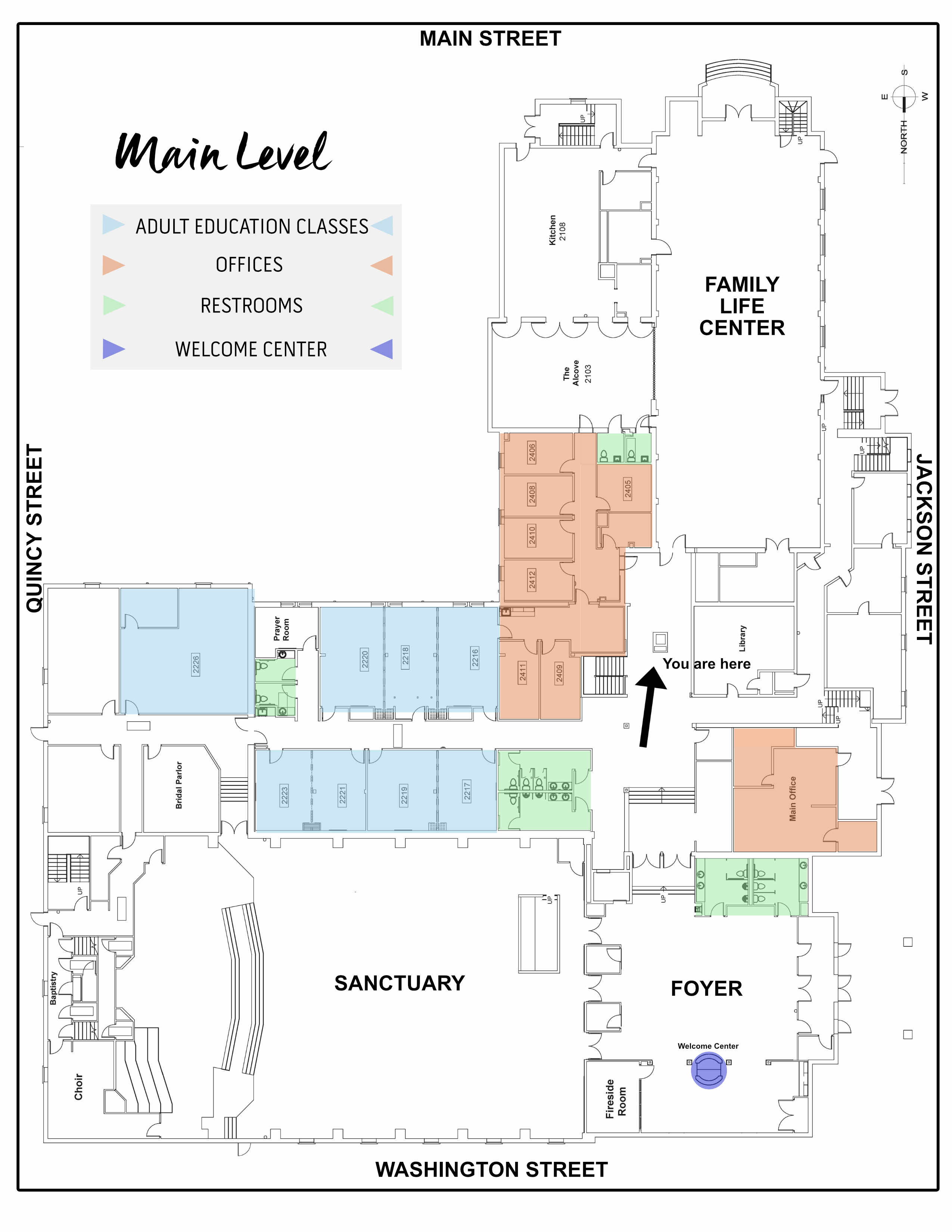 Main Level Map