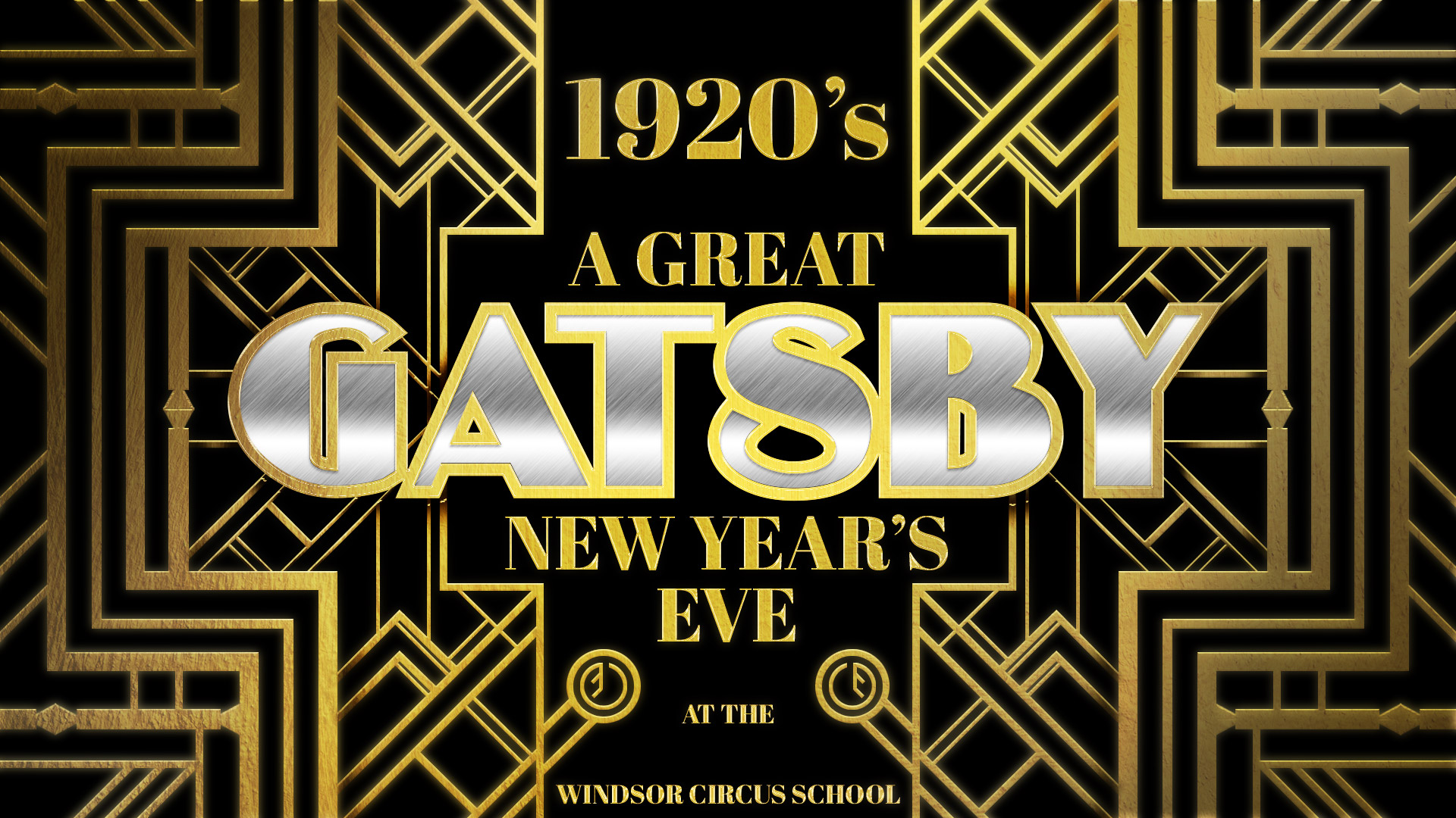 A Great Gatsby New Year's Eve Poster