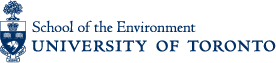 School of the Environment logo with University of Toronto crest.