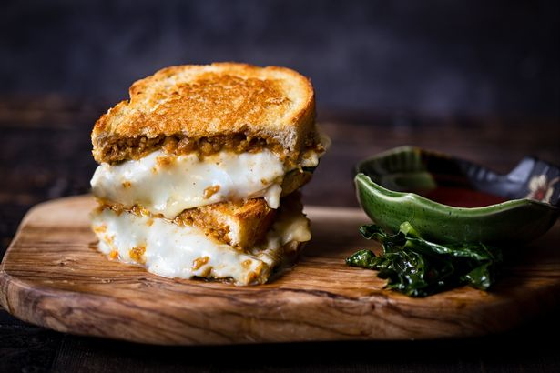 Haggis and Cheese Toastie