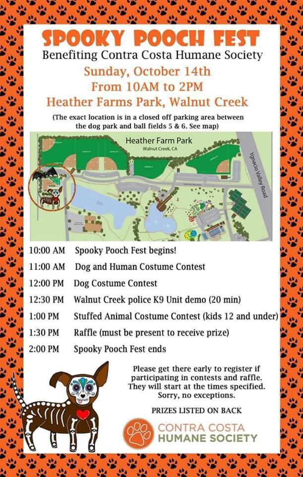 Spooky Pooch Fest schedule of activities