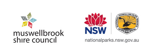 Muswellbrook Shire Council and NSW National Parks and Wildlife logos