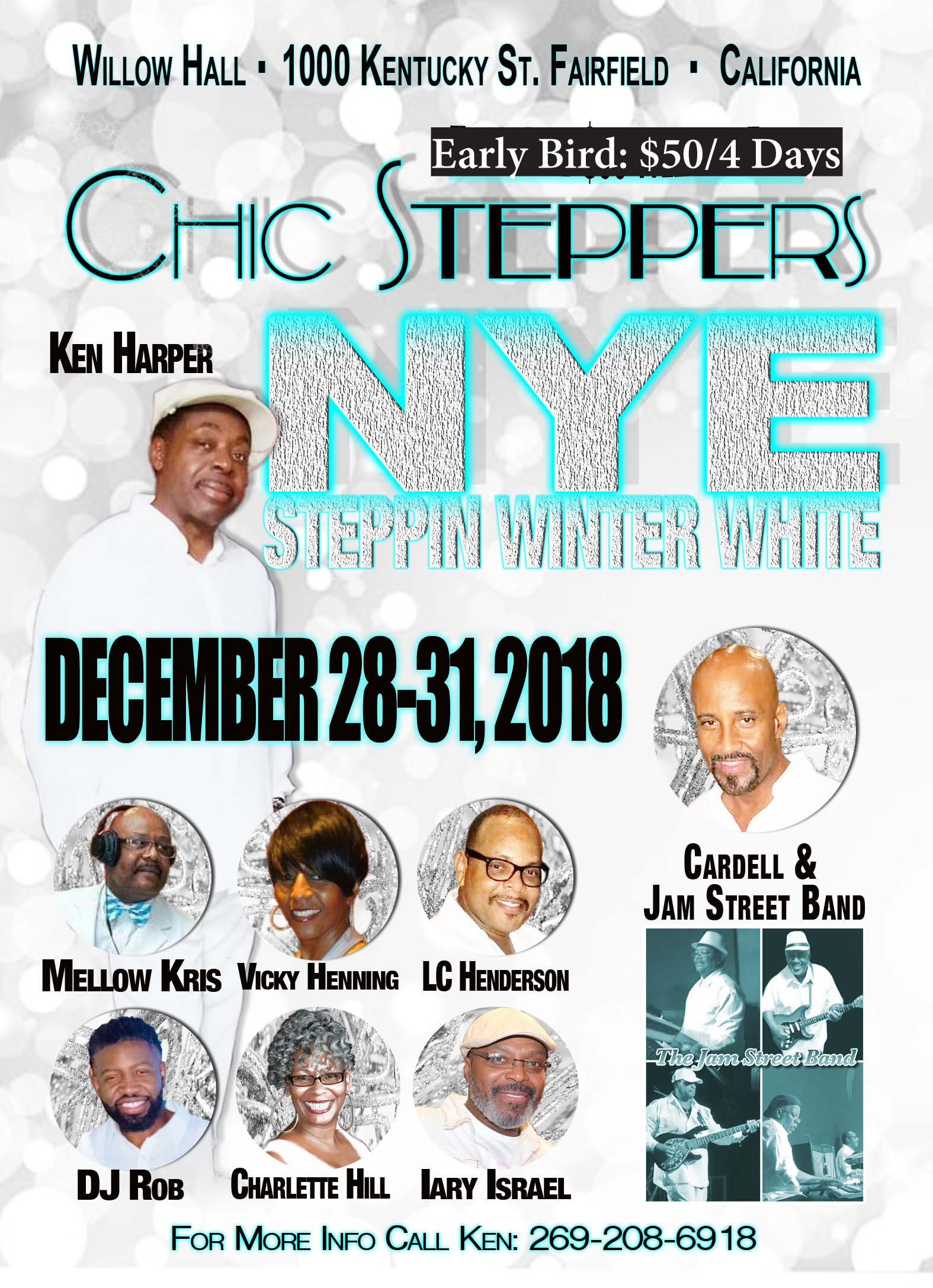 Chic Steppers New Years Eve Promo 2018