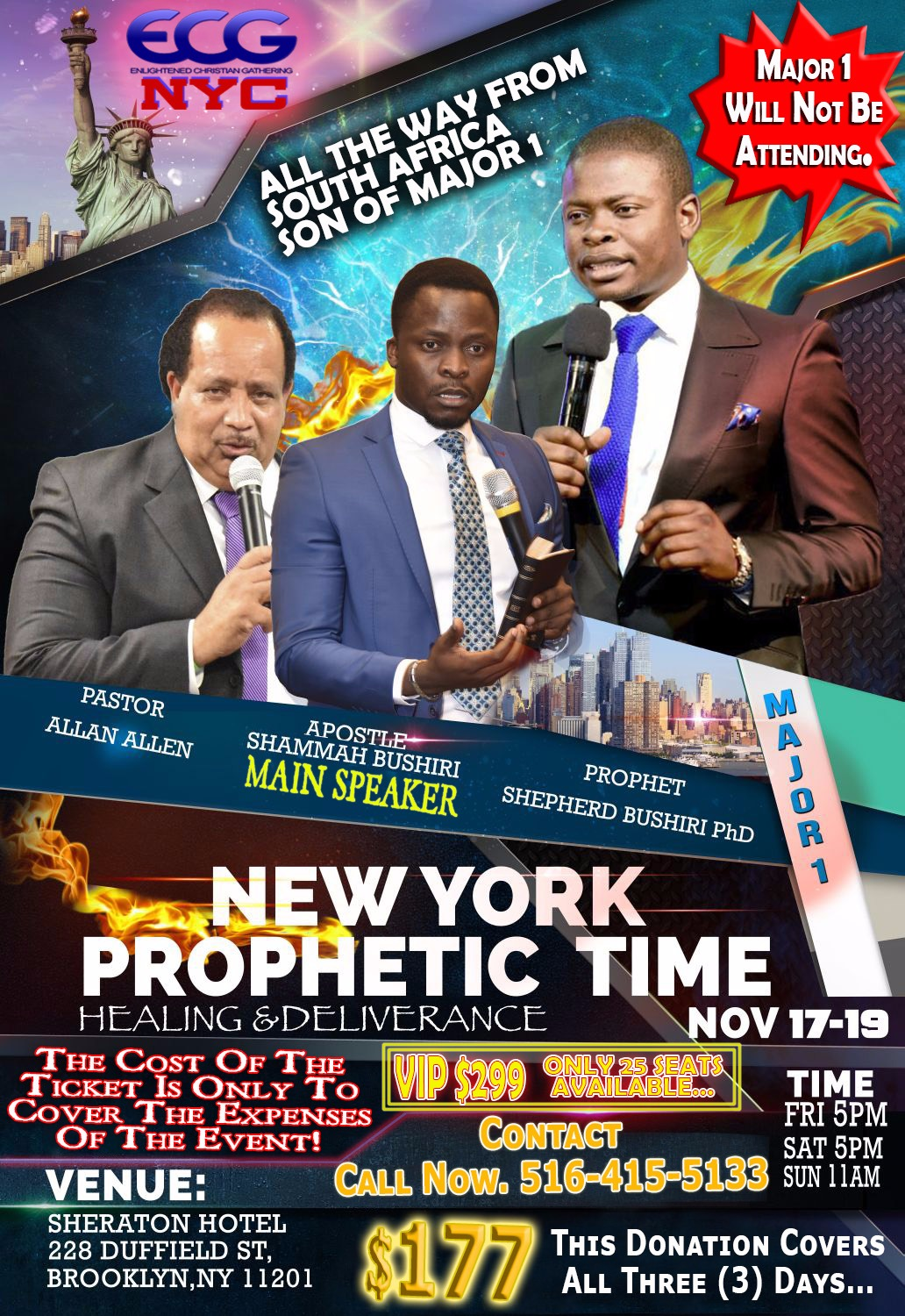 NEW YORK PROPHETIC TIME WITH APOSTLE SHAMMAH