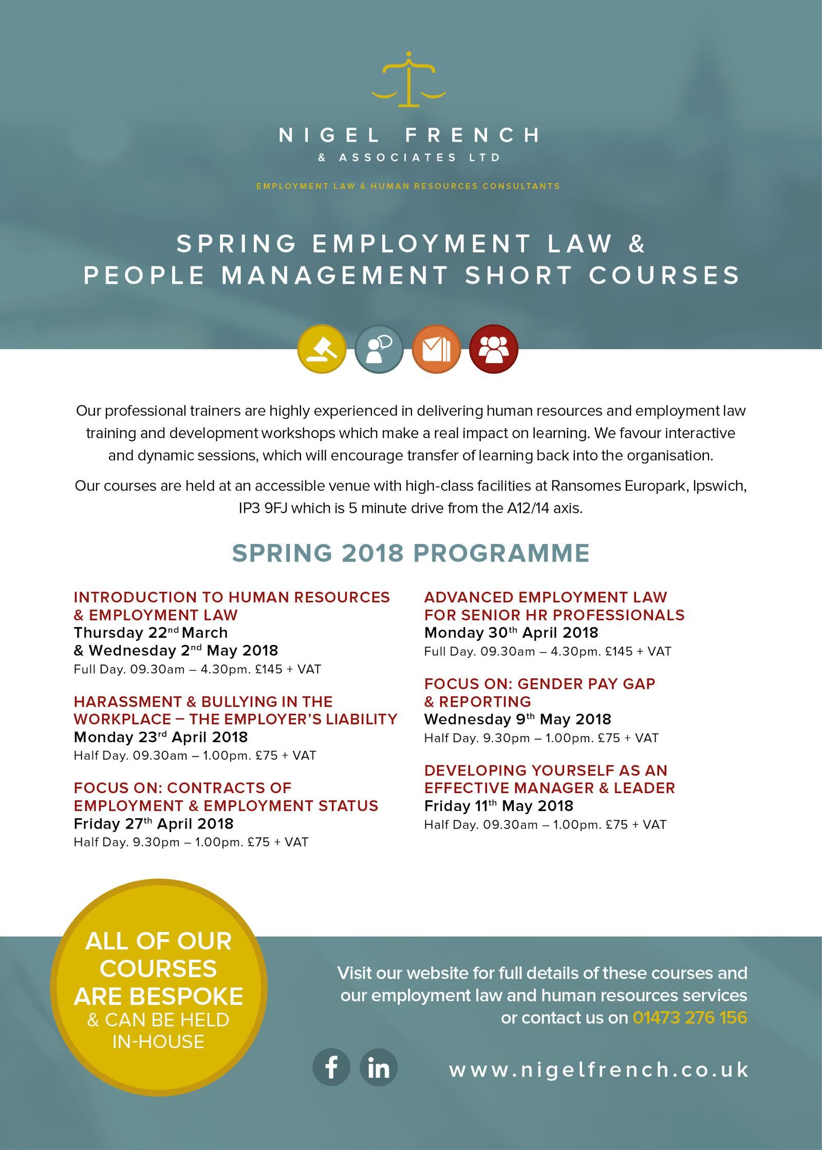 Spring People Management and Employment Law courses
