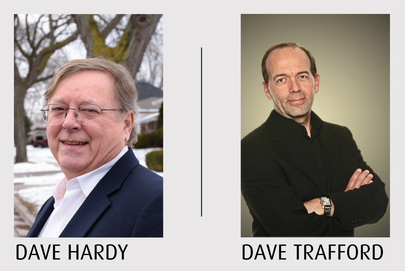 Dave Hardy and Dave Trafford