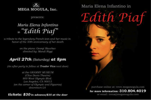 EDITH PIAF-A Tribute Concert