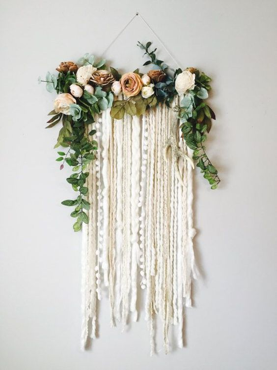 Macrame Floral Wall Hanging