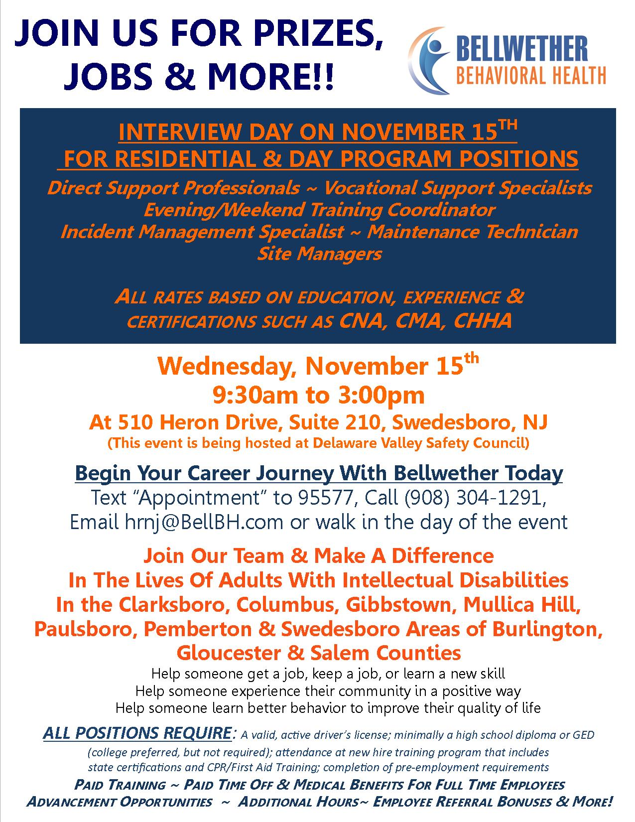 South Nov 15th Interview Day